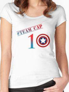 Captain America - Team Cap Women's Fitted Scoop T-Shirt