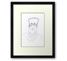 Francois Hollande Framed Print