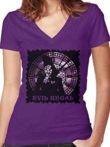 Evil Regal Women's Fitted V-Neck T-Shirt