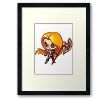 Chibi Knight Framed Print