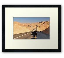 Desert road. Framed Print