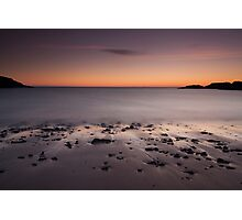 clachtoll beach sunset Photographic Print