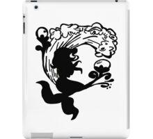 BW Mermaid Sillhouette iPad Case/Skin