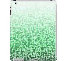 Ombre green and white swirls zentangle iPad Case/Skin