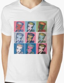 Warhol Barbie Mens V-Neck T-Shirt