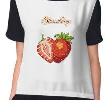 Seamless Pattern With Strawberry Chiffon Top