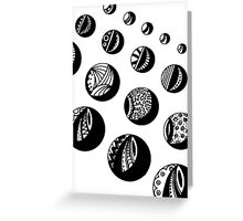 Getting the Balls Rolling Minisature Aussie Tangle Greeting Card