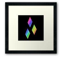 MLP - Cutie Mark Rainbow Special - Rarity Framed Print
