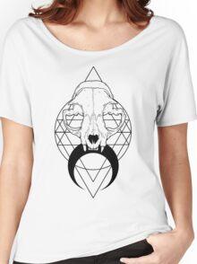 Feline Skull Women's Relaxed Fit T-Shirt