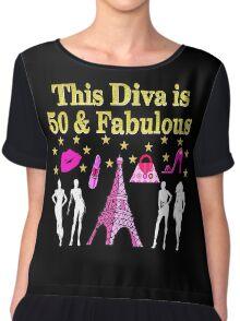FABULOUS 50TH PARIS DESIGN Women's Chiffon Top
