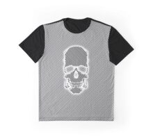 Stripy Skull Graphic T-Shirt