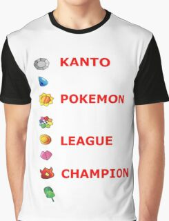 Pokemon - badges champion Graphic T-Shirt