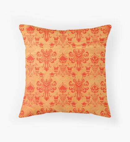 Madame Leota- orange Throw Pillow