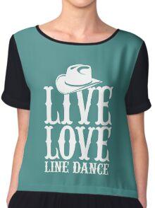 Live Love Line Dance Chiffon Top