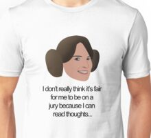 Liz Lemon Princess Leia Unisex T-Shirt