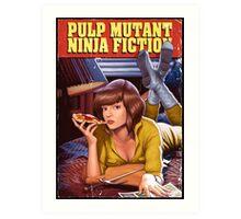 Pulp Mutant Ninja Fiction Art Print