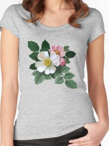 Eglantine - acrylic painting Women's Fitted Scoop T-Shirt