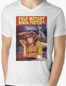 Pulp Mutant Ninja Fiction Mens V-Neck T-Shirt