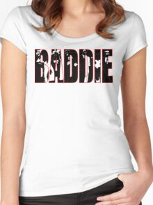 Batman Villians Baddie Women's Fitted Scoop T-Shirt