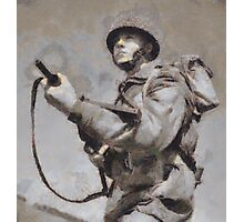 To War - WWII Soldier Photographic Print