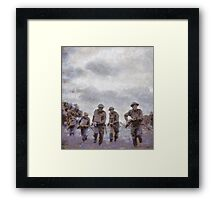 To War - WWII Soldiers Framed Print