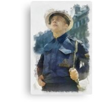 Civil Defence Warden - WWII Canvas Print