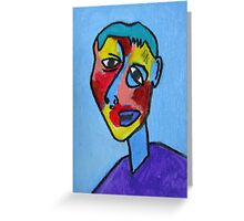 Abstract Cubism Contemporary Fine Art Greeting Card