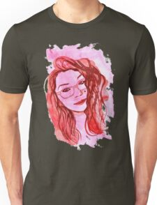 Amanda Alvear Watercolor Portrait Unisex T-Shirt