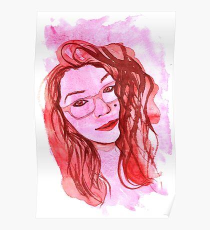 Amanda Alvear Watercolor Portrait Poster