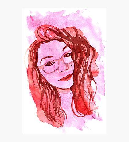 Amanda Alvear Watercolor Portrait Photographic Print