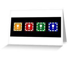 Power-up Blocks Greeting Card