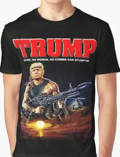 RAMBO TRUMP Graphic T-Shirt