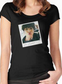 Jungkook Polaroid - BTS - Bangtan Boys Women's Fitted Scoop T-Shirt
