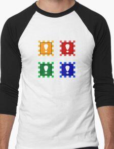 Power-up Blocks (Square version) Men's Baseball ¾ T-Shirt