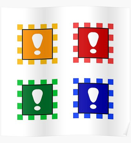 Power-up Blocks (Square version) Poster