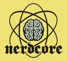 Nerdcore - Atomic Nucleus Brain Kids Tee