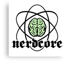 Nerdcore - Atomic Nucleus Brain Canvas Print