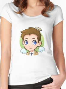 Chibi Cas Women's Fitted Scoop T-Shirt