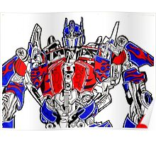 Optimus prime (Transformers movie) Poster