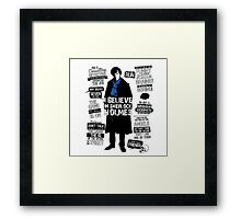 Detective Quote Framed Print