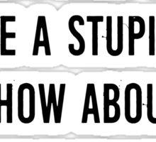 Stupid Werewolves (black and mint) Sticker
