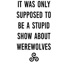 Stupid Werewolves (black and mint) Photographic Print