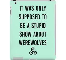 Stupid Werewolves (black and mint) iPad Case/Skin