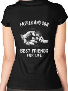 Father And Son - Father's Day Women's Fitted Scoop T-Shirt