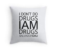 Salvador Dali Quote Throw Pillow