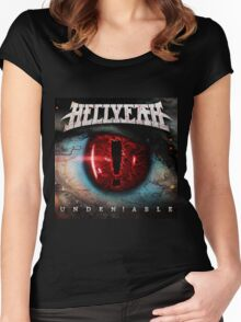 HELLYEAH ALBUMS UNDENIABLE Women's Fitted Scoop T-Shirt