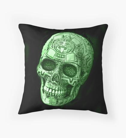 Skull Art Throw Pillow