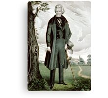General Andrew Jackson - the hero, the sage and the patriot - 1845 - Currier & Ives Canvas Print