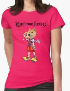 KingDOGE Hearts Womens Fitted T-Shirt