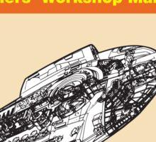 Haynes Manual - USS Defiant II - Poster & stickers Sticker